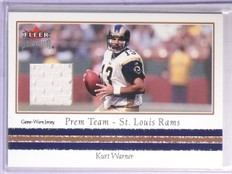 2002 Fleer Premium Prem Team Kurt Warner Jersey *67040