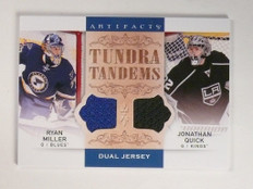 14-15 Upper Deck Artifacts Tundra Ryan Miller & Jonathan Quick jersey *52021