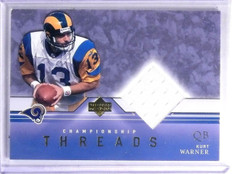 2001 Upper Deck Championship Threads Kurt Warner Jersey #CTKW *59910