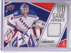 2011-12 Upper Deck Series 1 Henrik Lundqvist Game Jersey #GJ-HL *51533