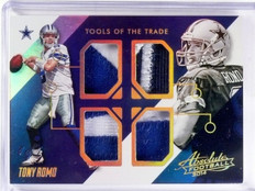 2014 Panini Absolute Tools Of The Trade Tony Romo quad patch #D 1/1 *57354