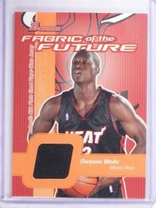 2003-04 Bowman Fabric of the Future Dwyane Wade Rookie Jersey #FFDW *64567