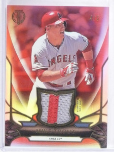 2016 Topps Tribute Red Parallel Mike Trout 2 color patch #D4/5 #TR-MT *56350