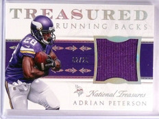 2015 National Treasures Adrian Peterson Treasured Jersey #D02/25 #TRBAP *55394