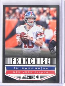 2013 Topps Score Franchise Black Parallel Eli Manning #D4/6 #287 *43115