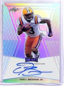 2014 Leaf Draft Prismatic Odell Beckham Jr. autograph auto rc rookie #OBJ *57385