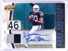 2011 Gridiron Gear Game Breakers Darren Mcfadden autograph patch #D 1/1 *57375