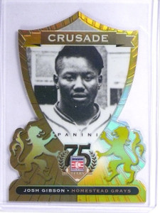2014 Panini Hall Of Fame Crusade Gold Diecut Josh Gibson #D09/10 *55861