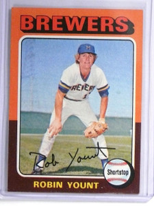1975 Topps Robin Yount rc rookie #223 EX With Back Stain *55954