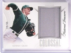 2015 National Treasures Sonny Gray Colossal Jersey #D28/99 #44 *53882