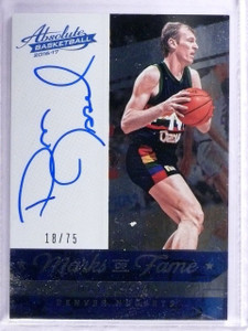 2016-17 Panini Absolute Marks of Fame Dan Issel Autograph #D18/75 #9 *64271