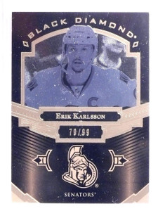 2016-17 UD Black Diamond Pure Black Erik Karlsson #D79/99 #BDBEK *66693