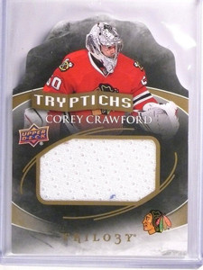 2015-16 UD Trilogy Corey Crawford Tryptichs Jersey #D020/200 #TCHI1 *53801