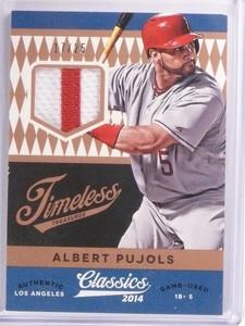 2014 Classics Timeless Treasures Albert Pujols Prime Jersey Patch #D17/25 *53665