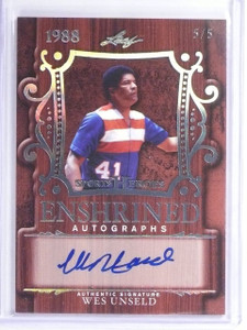 2016 Leaf Sports Heroes Enshrined Wes Unseld autograph auto #D5/5 *55937