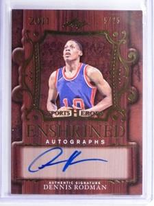 2016 Leaf Sports Heroes Enshrined Dennis Rodman autograph auto #D5/25 *55965