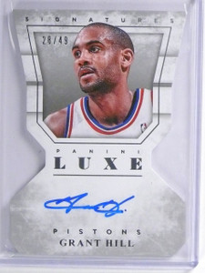 2015-16 Panini Luxe Signatures Grant Hill autograph auto #D28/49 #DC-GHL *55970