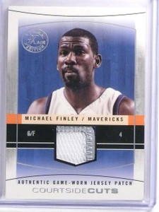 2003-04 Flair Final Courtside Cuts Michael Finley Patch #D50/50 #CCMF *59918