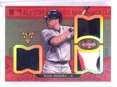 2016 Topps Triple Threads Mark Teixeira All-Star Game Patch #D3/9  *57324