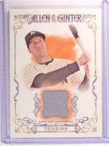 2015 Topps Allen and Ginter Mark Teixeira Jersey Relic #FSRAMTE *52753