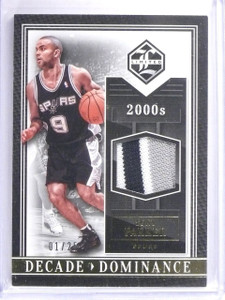 2015-16 Panini Limited Decade Dominance Tony Parker Patch #D01/25 #20 *64404