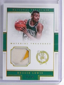 2015-16 National Treasures Treasures Reggie Lewis 2 color patch #D15/25 #21 *559