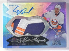 14-15 Fleer Showcase White Hot Griffin Reinhart autograph patch rc #D3/3 *48678