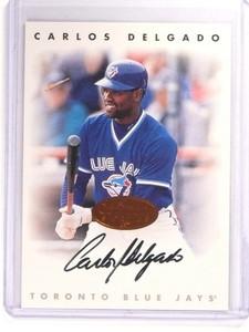 1996 Leaf Signature Series Bronze Carlos Delgado autograph auto *52521
