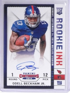 2014 Panini Contenders Rookie Ink Odell Beckham Jr. autograph auto rc  *56399