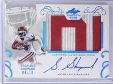 2016 Leaf Trinity Sterling Shepard autograph auto patch rc #D09/10 *56400