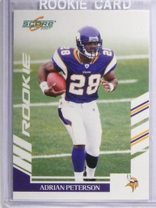 2007 Score Adrian Peterson Rookie #341 *62625