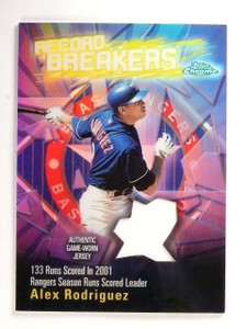 2003 Topps Chrome Alex Rodriguez Record Breakers Jersey Refractor #RBCRAR *52630