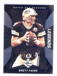 2013 Panini Limited Spotlight Black Parallel Brett Favre #D 1/1 #109 *56389