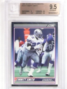1990 Score Supplemntal Emmitt Smith rc rookie #101t BGS 9.5 GEM MINT *56313