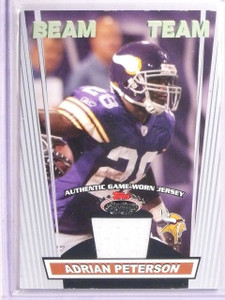 2008 Topps Stadium Club Beam Team Adrian Peterson Jersey #BTRAP *67019