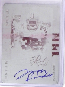 2013 Contenders Joseph Randle 1/1 Magenta Printing Plate Autograph RC #215 *5653