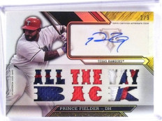 2016 Topps Triple Threads Gold Prince Fielder autograph auto patch #D2/9 *57357