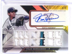 2016 Topps Triple Threads Gold Felix Hernandez autograph auto patch #D8/9 *57352