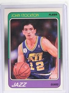 1988-89 Fleer John Stockton Rookie RC #115 *49643