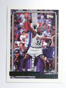 92-93 Topps Gold parallel Shaquille O'neal rc rookie #362 *48070