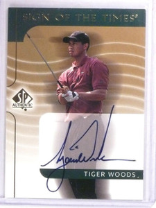 2003 Sp Authentic Sign Of The Times Tiger Woods autograph auto #TW *56325