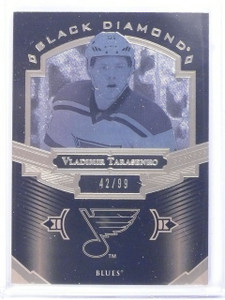 2016-17 UD Black Diamond Pure Black Vladimir Tarasenko #D42/99 #BDBVT *64744