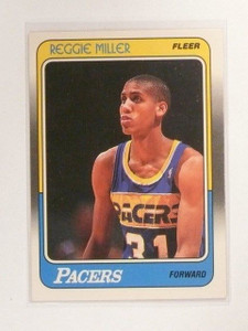 1988-89 Fleer Reggie Miller Rookie RC #57 Indiana Pacers *45773