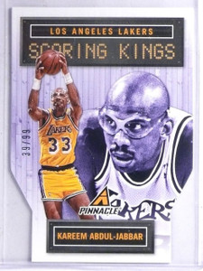 2013-14 Pinnacle Scoring Kings Die Cuts Kareem Abdul-Jabbar #D39/99 #1 *65954