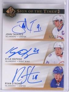 2014-15 Sp Authentic Sign Times John Tavares Okposo Strome autograph #D5/15 *563