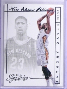 2013-14 Panini Signatures Blue Anthony Davis #D08/15 #42 *64264