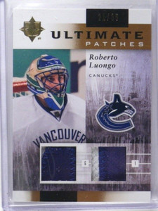 11-12 Ultimate Collection Patches Roberto Luongo dual patch #D21/35 *35902