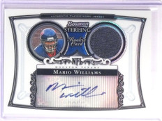 2006 Bowman Sterling Refractor Mario Williams Jersey Autograph #D171/199 *67172