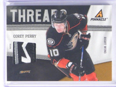 11-12 Pinnacle Threads Corey Perry 3 color patch #D19/25 #1 *35548