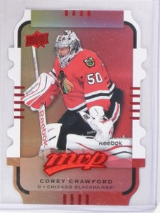 2015-16 UD MVP Corey Crawford Gold Level 3 Colors and Contours #D161 *56514